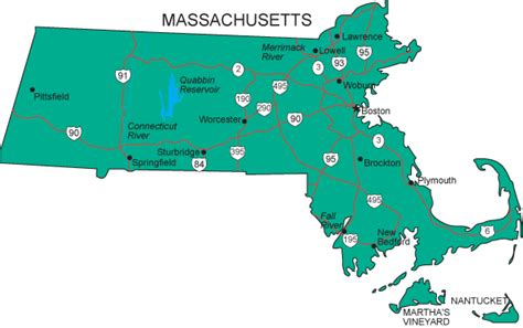 what is the state of massachusetts ma map massachusetts state map