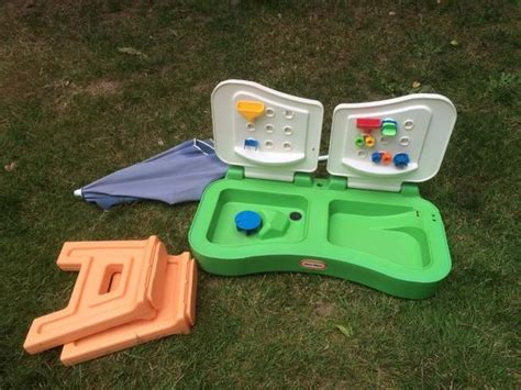 tikes sand and water table tikes sand water table with umbrella sooke