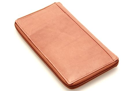 large leather travel wallet passport slot card holder