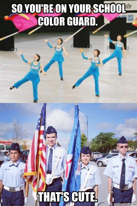 Color Guard Memes - so you re on your school color guard