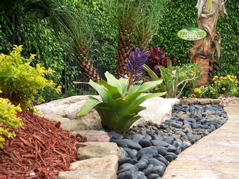 Landscape Rock Miami Front Yard Landscape Tropical Landscape Miami By