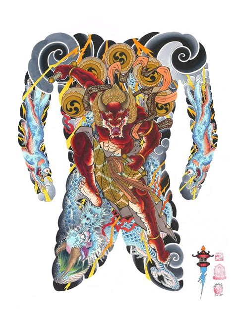 yakuza tattoo flash 17 best images about raijin on pinterest about art