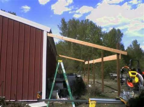 Metal Barn House Floor Plans by Shed Roof In A Day Youtube