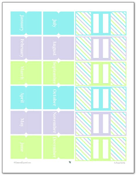 printable planner tabs pretty printable planner accessories personal planners