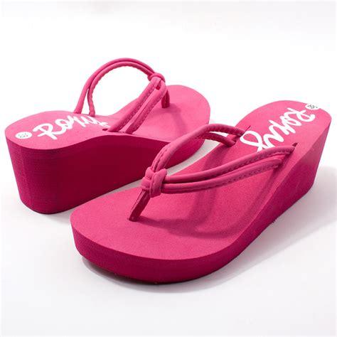 high heeled flip flops wedge s shoes wedges slippers high heeled shoes wedges