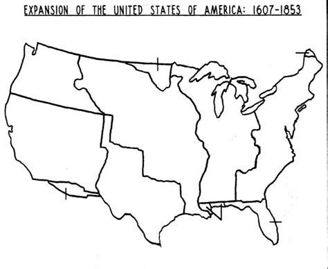Printable Us Expansion Map   blank map of the us westward expansion jpg 1409 215 1161