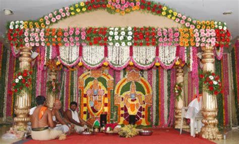 Wedding Stage Decoration Service in Tirupati, Sri Abhinaya