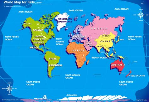 World Search Printable World Map For Search Childrens