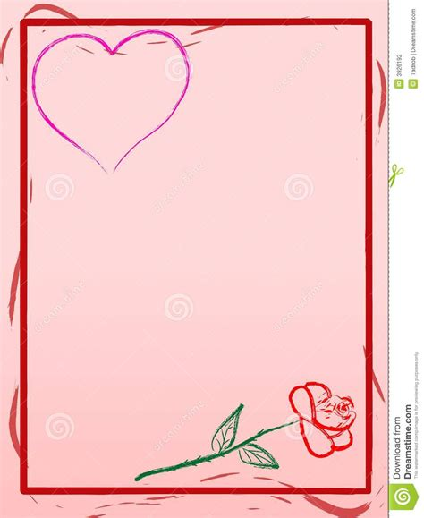 Love Letter Background Stock Vector Illustration Of Message 3926192 Letter Background Template