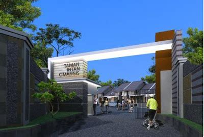 desain gerbang minimalis rumah minimalis taman intan cimanggis town house taman