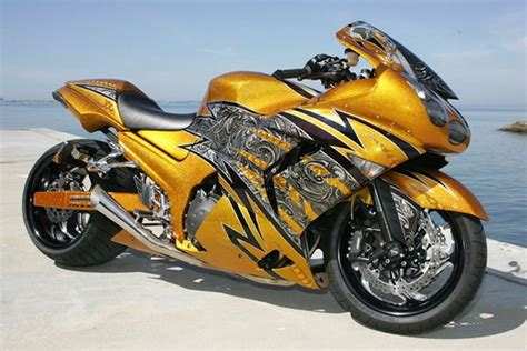 gold motorcycle gold zx14 zx 14r custom sport