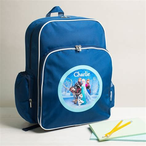 Personalised Disney Frozen Large Backpack   Blue