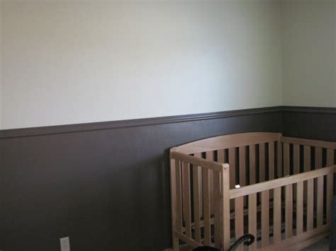 nursery chair rail our journey with triplets nursery progress picture post