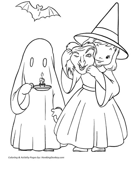 halloween witch coloring pages cute halloween witch with
