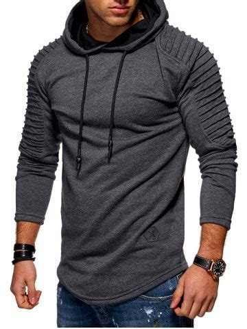 light brown pullover hoodie light brown m color blocking casual pullover hoodie