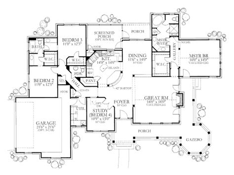 bedroom country house plans garden home floor with 3 plan