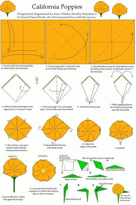 Origami Flower Diagram - origami charming origami origami