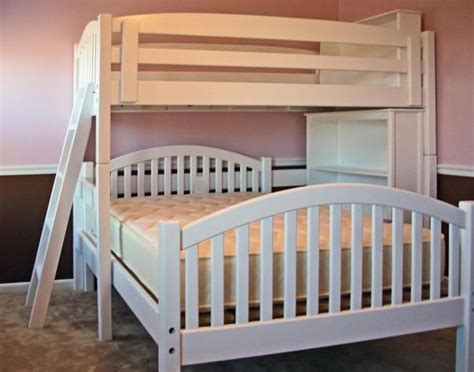 bunk bed with bookcase twin over full l shape bunk bed with bookcase arched