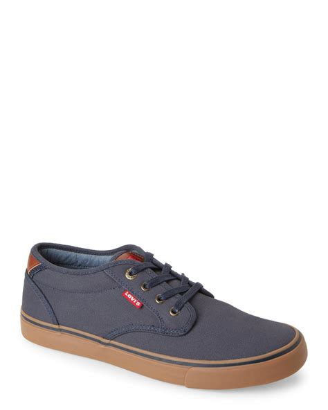 levi sneakers levi s navy cali gum sneakers in blue for lyst