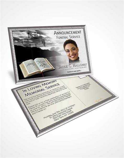 memorial card template sunset 2 page graduated step fold funeral program template