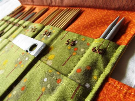 pattern needle holder sewing on pins finished project double point knitting