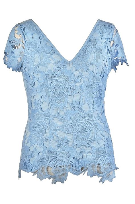 Blue Lace Top plus size top blue plus size lace top sky blue lace