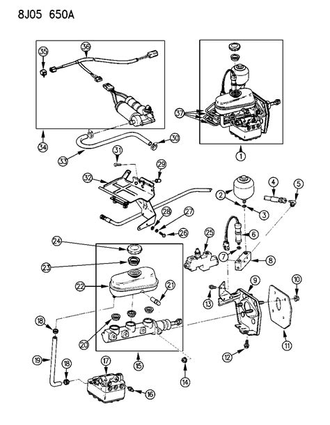 master cylinder parts diagram brake master cylinder for 1988 jeep mopar parts