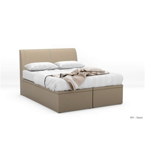 Leather Storage Bed Frame Quadtough Faux Leather Storage Bed Frame Furniture Home D 233 Cor Fortytwo