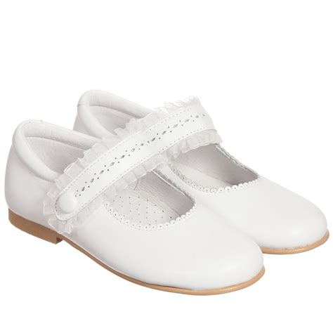 children s classics white leather velcro shoes