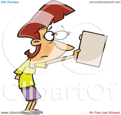 cartoon of a nervous businesswoman submitting a file