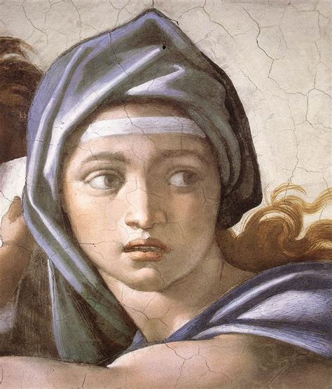 michelangelo s hella heaven the delphic sibyl by michelangelo
