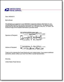 Business Letter Certified Mail Electronic Return Receipt For Usps Certified Mail