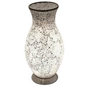 crackle glass vase l mosaic table l