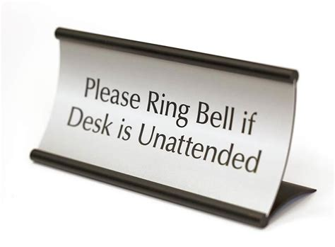 curved desk sign modular sign systems desk name plate