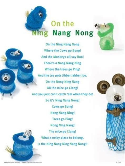 on the ning nang nong poem by spike milligan poem hunter plint on the ning nang nong inspirational poems