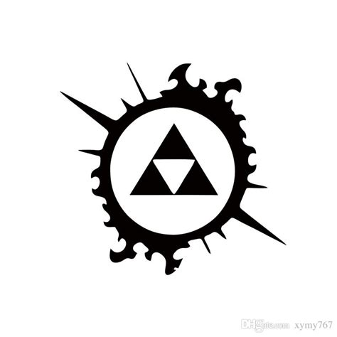 Zelda Auto Sticker by 2018 Cool Graphics Legend Of Zelda Triforce Splash Car