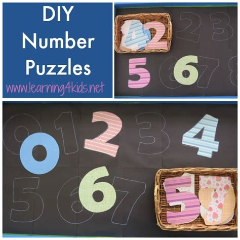 Diy Number Puzzles Learning 4 Kids Home Diy Ideas Blog