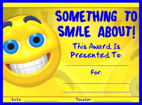 smile templates for cards awards for all subjects awards and certificates that all