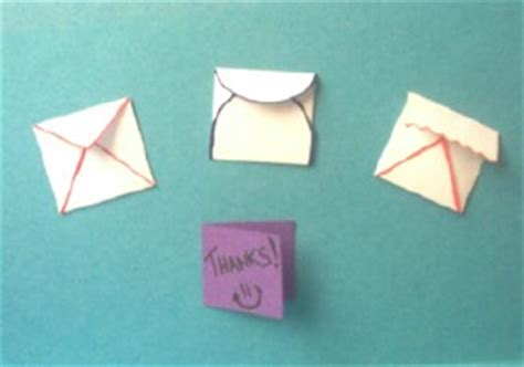 How To Make A Mini Envelope Out Of Paper - make a mini envelope
