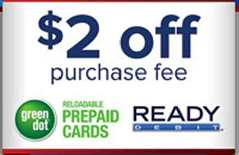 Reloadable Gift Cards With No Fees - family dollar green dot 2 off purchase fee