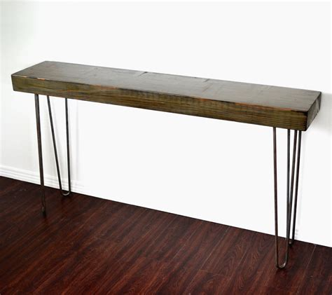 Reclaimed Console Table Console Table Salvaged Wood Reclaimed Industrial Factory Beam