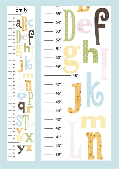 printable children s growth chart 10 best images of free printable growth charts data free