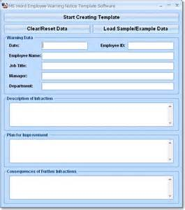 Employee Warning Notice Template by Free Ms Word Employee Warning Notice Template