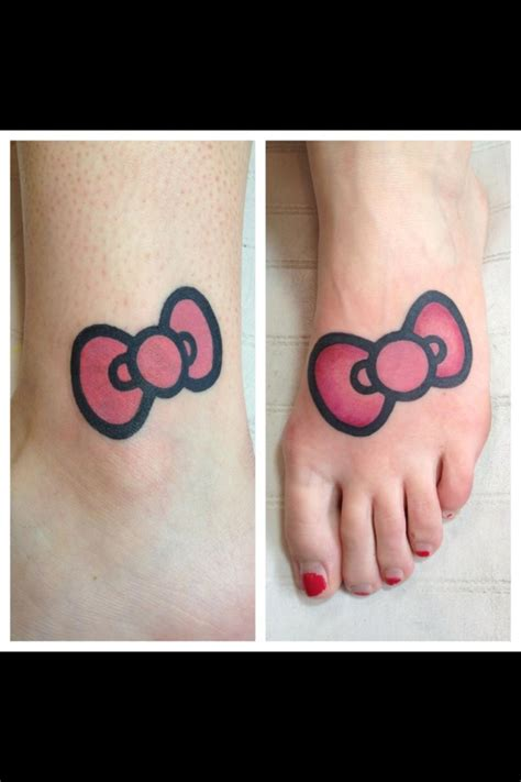 hello kitty bow tattoo hello ideas ribbons ink ideas pink