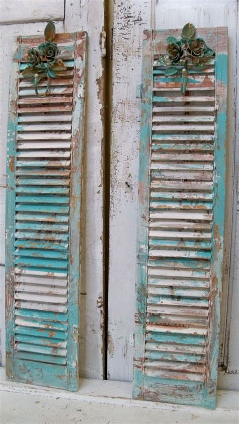 decorative wall shutters decorative repurposed shutters wall decor from