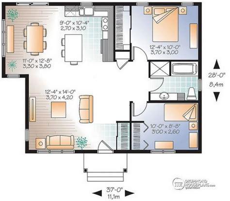 12 en casa 2 plano de casa de 8 x 11 m planos de casas modernas