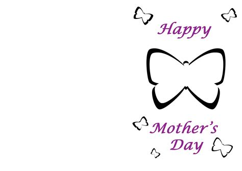 mothers day template card microsoft templates mothers day cards clipart best