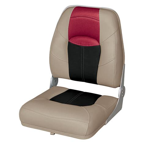 high back boat seat covers wise seating high back folding boat seat west marine