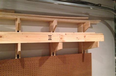 Wall Mounted Lumber Storage Rack by Lumber Storage Shelves Woodworking Plans Jig Saw Tenon