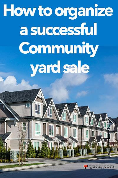 co marketing your yard sale with the help of the community
